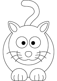 free funny cat coloring