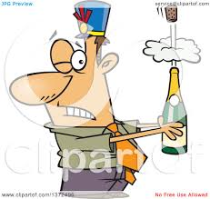 champagne bottle cartoon cartoon clipart of a white business man holding an exploding