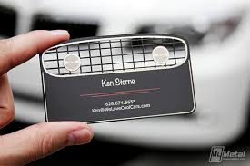 classic car inspired black metal business card on behance