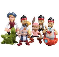 jake neverland pirates toy 8 pieces figures play jake