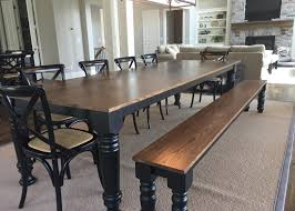 custom dining room table with bench urban edge woodworks