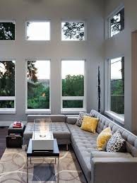Designing A Small Living Room With Fireplace 12 Living Room Ideas For A Grey Sectional Hgtv U0027s Decorating