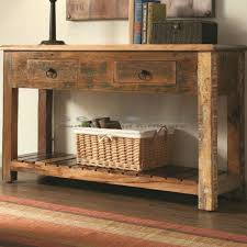 reclaimed wood entry table reclaimed wood console cheap media for your living room design table