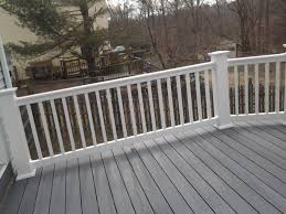 longevity vinyl deck railing system white rail section 36