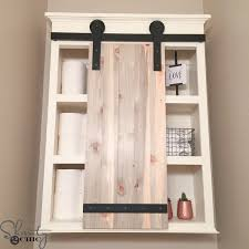 Diy Bathroom Cabinet Diy Sliding Barn Door Bathroom Cabinet Shanty 2 Chic Wall Douglas