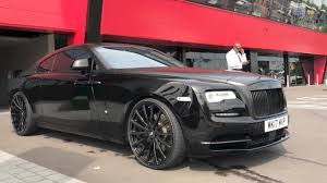 roll royce wraith on rims my new 2017 black rolls royce wraith on forgiato u0027s youtube
