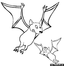 bats coloring halloween bat coloring