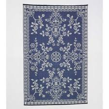 Recycled Outdoor Rugs Reversible U0026 Recycled Blue And White Indoor Outdoor Rug Vivaterra