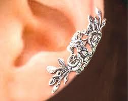 ear clasp cuff wrap earrings etsy