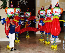 clowns balloons carnival theme balloons balloon decor design for kids party in