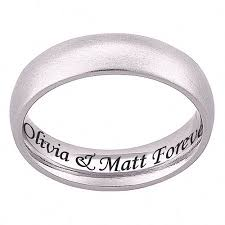 engravings for wedding bands personalized stainless steel engraved wedding band walmart
