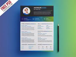 Resume Template Html Psd Resume Template Photographer Resume Template Photoshop Psd
