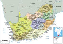 map of south africa large political map of south africa