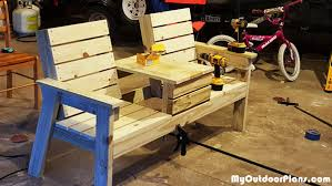 build a double chair bench myoutdoorplans free woodworking
