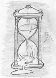 drawn hourglass sketch pencil and in color drawn hourglass sketch