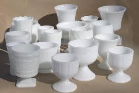 White Glass Vase Vintage Milk Glass Vases 6 Milk Gl Hobnail Vases Collection Of Milk By