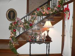 Banister Decor 23 Gorgeous Christmas Staircase Decorating Ideas