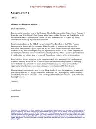 Resume For Internship In Finance Internship Cover Letters Examples Master Of Business