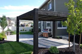 Pergola Design Ideas by Brilliant Modern Covered Pergola Design Near Pool On The Grass