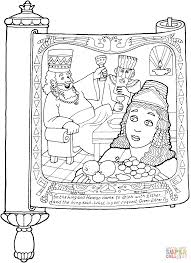 megillat esther online megillat esther and haman coloring page free printable coloring pages