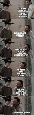 Walking Dead Rick Crying Meme - rick and carl longer memes imgflip