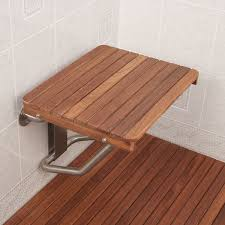 Teak Shower Mat Amazon Com Teak Ada Wall Mounted Shower Bench Seat 18