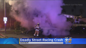 fiery street racing crash kills 2 in anaheim youtube