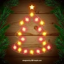 christmas tree shaped lights christmas lights in a shape of christmas tree vector free download