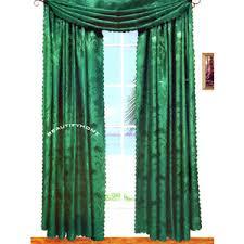 brand new hunter green curtains drapes w lace 18 u0027 scarf cu