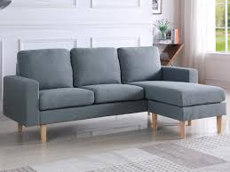 lolet canapé canape d angle reversible gino 3 places gris 93928 93930