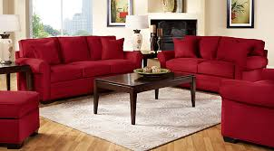 stylish red living room set cardinal red and black living room
