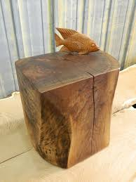 natural tree stump side table brings nature fragment into your