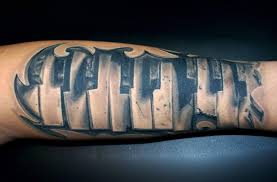ripped skin nice piano keys tattoo on forearm golfian com