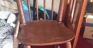Maple Dining Chair What Can You Make Out Of An Old Maple Dining Chair With A Cracked