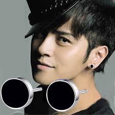 mens stud earrings mens fashion black stud earrings 925 sterling silver men
