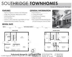South Ridge Floor Plans 3 Bedroom Townhouses For Rent At 45 Avenue U0026 106 Street Edmonton