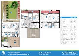 floor plans of sidra in al raha gardens