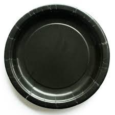 paper plates plain black paper plates 8 pack pretty party shop