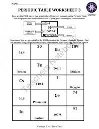 Periodic Table How To Read New How To Read Periodic Table Worksheet Periodic