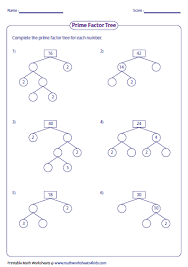 awesome collection of prime factorization worksheets for 5th grade