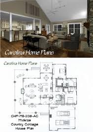 Cottge House Plan by Midsize Country Cottage House Plan With Open Floor Plan Layout