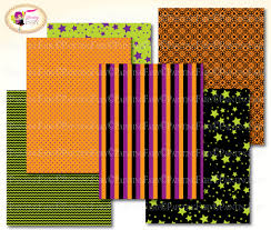 black and orange polka dot halloween background halloween digital paper pack pumkin orange black green scrapbook
