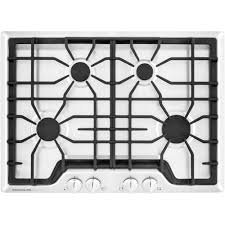 Frigidaire Downdraft Cooktop Frigidaire Gallery 30 In Gas Cooktop In White With 4 Burners