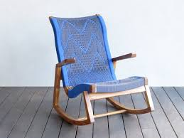 Wood Rocking Chair Handwoven Patterned Solid Teak Wood Rocking Chair U2013 Masaya U0026 Co