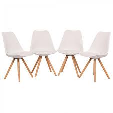 Esszimmerstuhl Retro Leder Design Stuhl Retro Stuhl Esszimmerstuhl Sitzgruppe Bürostuhl 4 Set