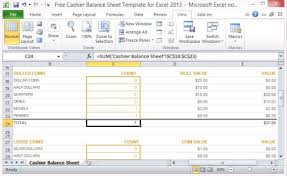 Excel Balance Sheet Template Free Free Cashier Balance Sheet Template For Excel 2013