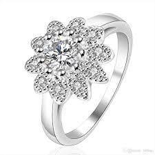 sunflower engagement ring new korean sunflower shape mini fashion ring finger table