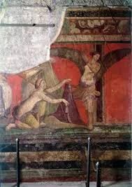 d inition chambre pompéi villa des mysteres triclinium chambre scène d