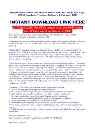 hyundai terracan workshop service repair manual 2001 2007 3 000 pag u2026