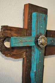 western crosses turquoise rustic western cross one of a by heartifactsgallery